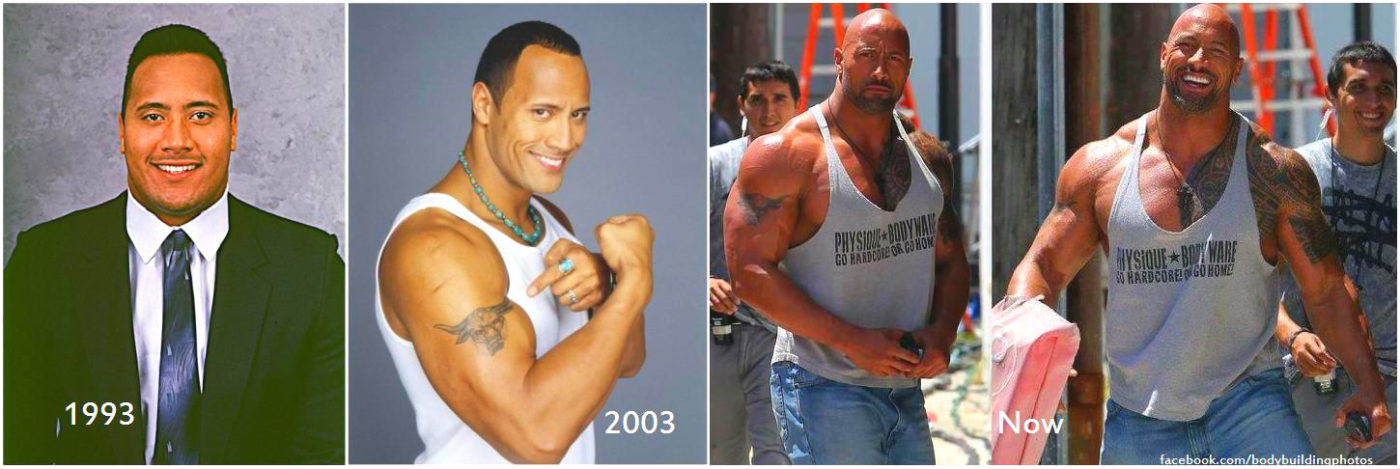 The rock muscle transformation