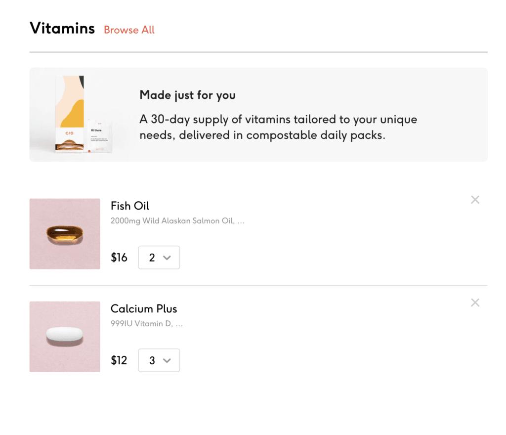 Examen des soins/des vitamines (honnête)